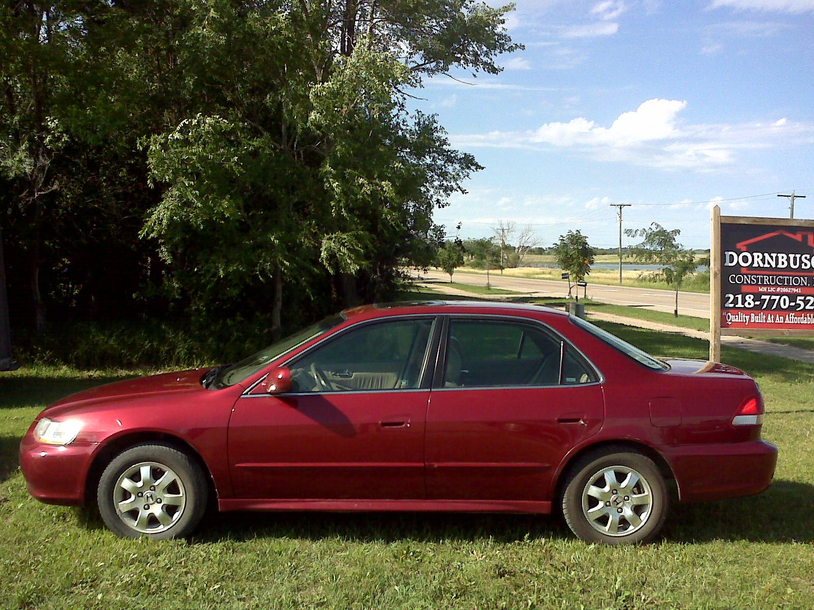2001 Honda Accord EX with a 2.3-liter, 4-cylinder engine and a 4-speed automatic transmission